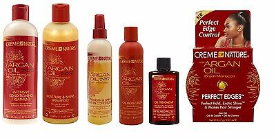 Creme Of Nature Argan Oil From Morocco Hydrating Hair Shampoo Conditioner Gel UK