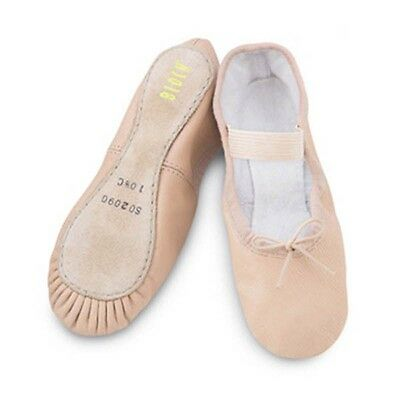 Pink leather Bloch arise / ecole full sole ballet shoes - all sizes