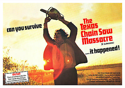 The Texas Chainsaw Massacre (1974) V3 - A1/A2 POSTER *BUY ANY 2 AND GET 1 FREE*