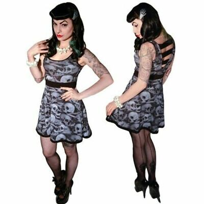 official merc Kreepsville 666 skull lace penny dress alternative Gothic wear