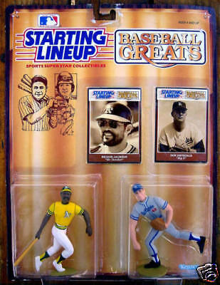 Reggie Jackson & Don Drysdale 1989 Starting Line Up SLU Double Figures-New!