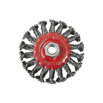 """4"""" 100mm Twist Knot Wire Wheel Brush Angle Grinder 11000 RPM Twisted Weld Clean"""