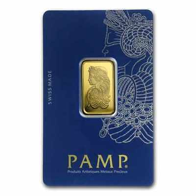 PAMP Suisse 10 gram .9999 Gold Bar in Assay