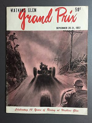 1957 Watkins Glen Grand Prix, Program September 20-21, 1957 RARE!! Awesome L@@K