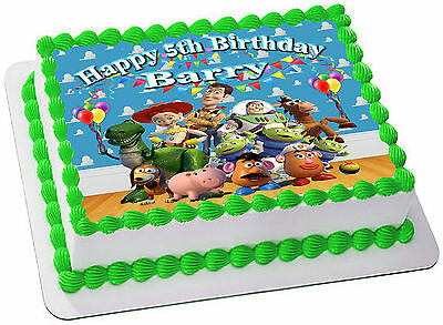 Toy Story  Real Edible Icing Cake Topper Party Image Frosting Sheet