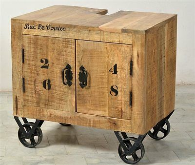 bad kommode frigo unterschrank badschrank mangoholz massiv shabby antik stil eur 369 00. Black Bedroom Furniture Sets. Home Design Ideas