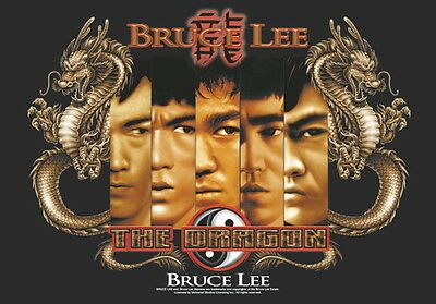 """Bruce Lee Flagge / Fahne  """"the Dragon"""" Poster Flag"""