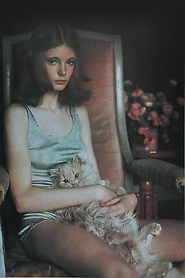 David Hamilton Limited Edition Photo 29x40cm Young Girl Pussy Cat Katze Sitting