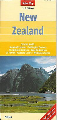 Map of New Zealand, by Nelles Map