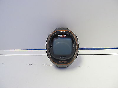 Timex T5K575 Ironman Run Trainer GPS HRM Watch W/O STRAP AS IS NOT WORKING