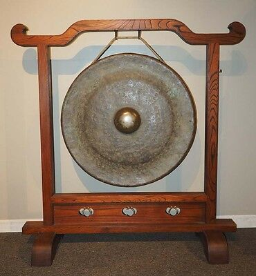 Extraordinary Japanese Giant Gong With Great Sound ! Happy Holidays Sale 30 % Of
