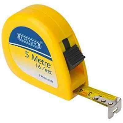 Measuring Tape Measure- Draper 5m / 16ft x 19mm