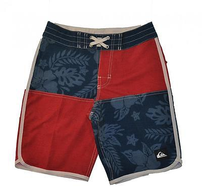 Quiksilver Big Boys Red & Navy Board Short Size 26 (12)