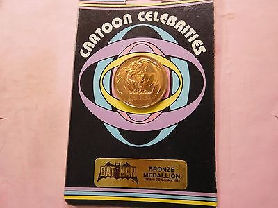 Batman 1987 Cartoon Celebrities Bronze Medallion Sealed On Card Rare To Find