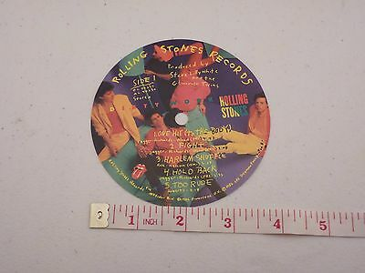 ROLLING STONES - ORIGINAL Dirty Work Paper Record Label Center Sticker