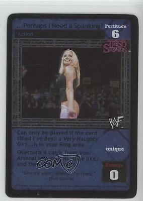 2002 WWE Raw Deal Trading Card Game 107/150V6.0 … Perhaps I Need a Spanking? 1i3