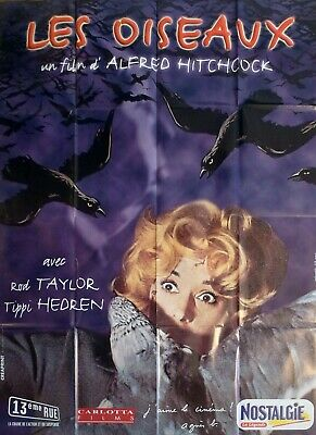 The Birds - Hitchcock / Hedren - Reissue Large French Movie Poster
