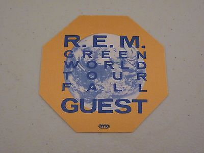 REM R.E.M. Green World Tour Fall Guest Backstage Concert Pass