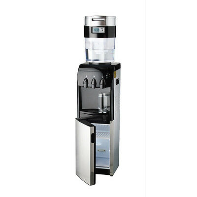 Aquaport Stainless Steel Platinum Hot and Cold Filtered Water Cooler With Fridge