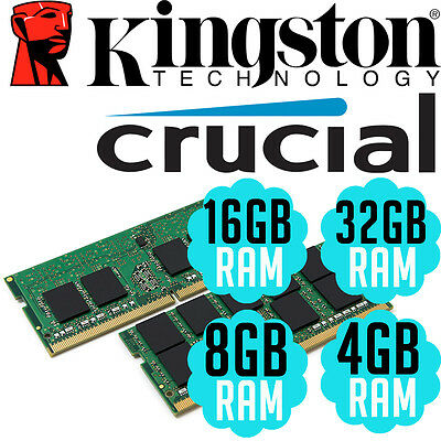 Kingston Crucial DDR4 SODIMM 4GB 8GB 16GB 32GB Memory RAM Laptop Notebook PC