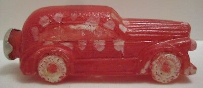Old Unusual Miniature Glass Automobile Car Candy Container Bottle J.S. Co.