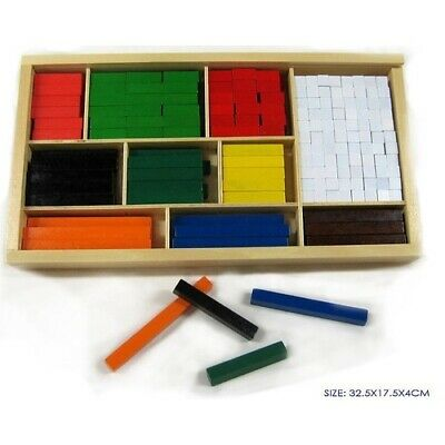WOODEN CUISENAIRE RODS 308pcs Educational TOY MATHS MATHEMATICS Teaching AID