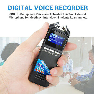 K6 Digital Voice Recorder 8GB MP3 Player New USB Audio Rechargeable Dictaphone