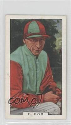 1936 Gallaher Famous Jockeys Tobacco Base #8 Fred Fox MiscSports Card 1m8