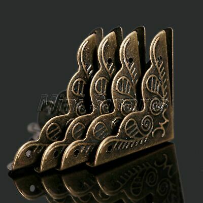 12Pcs Vintage Jewelry Wine Gift Box Wood Box Case Corner Protector Guard Decor