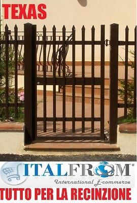 Electric pedestrian gate panel fencing railing galvanized wrought iron (Texas)