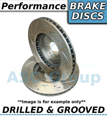 2x (Pair) Uprated Performance Drilled and Grooved Front Brake Discs - 283mm
