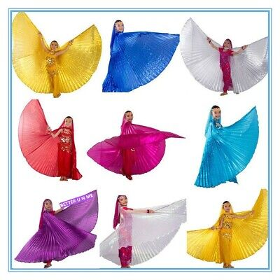 Baby Belly Dance Costume Children's isis wings 10 colours White/Gold/Silver US