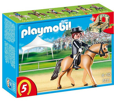 BNIB Playmobil 5111 Dressage Horse with Rider and Stable