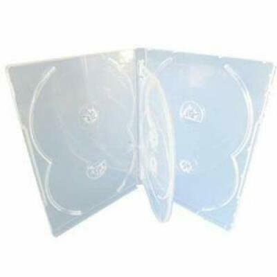 100 X CD DVD 14mm Clear DVD 6 Way Case for 6 Disc - Pack of 100
