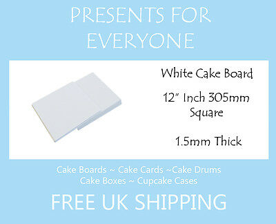 "12"" White Square Cake Boards Decoration Display"