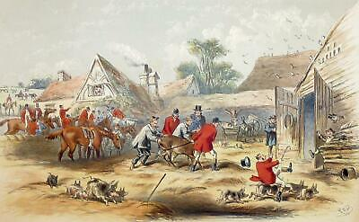 """JAGD - """"Fores's Series"""" - kolorierte Lithographie 1863"""