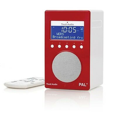 Tivoli Audio Pal+ Portable DAB Radio - High Gloss Red/White