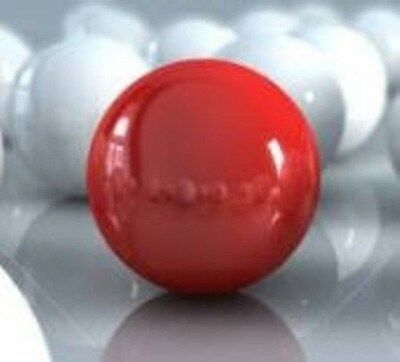 "ACRYLIC BALL .500""  DIAMETER OPAQUE  RED 200  SOLID RED BALLS  15462-7new"