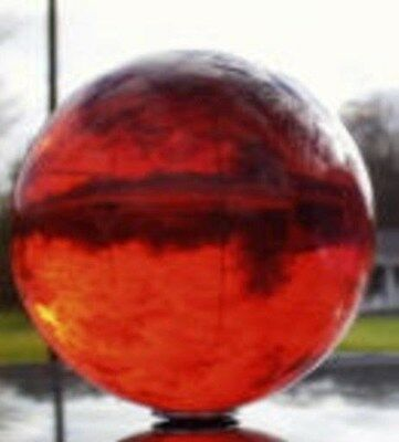 """Acrylic Ball 2"""" Transparent Ruby Red 1 Pc Juggling Lighting Finials  15796-70"""