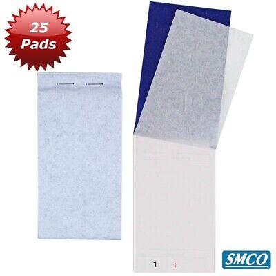 25 DUPLICATE WAITER ORDER PADS with carbon CAFE PUB TAKEAWAY FOOD EF15 PAD 15