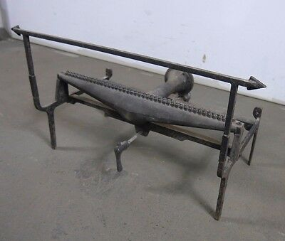 Antique Vintage Gas Log Holder with Burner No Log 1920's