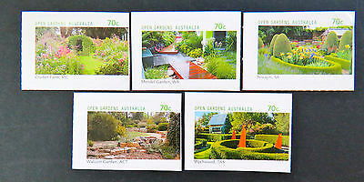 Australian Decimal Stamps: 2014 Open Gardens - Set of 5 Peel & Stick MNH