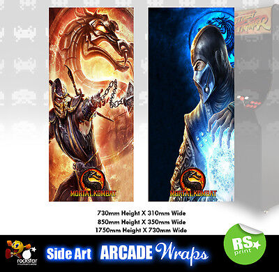 Mortal Kombat Arcade Side Artwork Panel Stickers Graphics / Laminated All Sizes