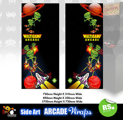 Multigame v1 Arcade Side Artwork Panel Stickers Graphics / Laminated All Sizes