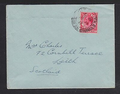 Gibraltar 1916/17 Two Covers Uncensored To Leith Scotland Uk