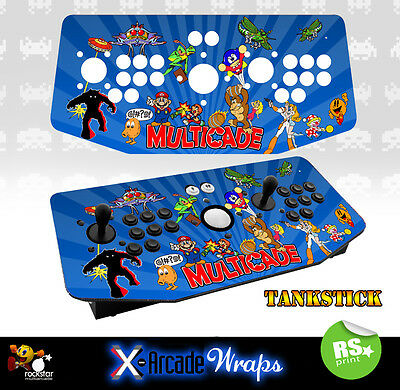 Multi Game v2  X Arcade Artwork Tankstick Overlay Graphic Sticker