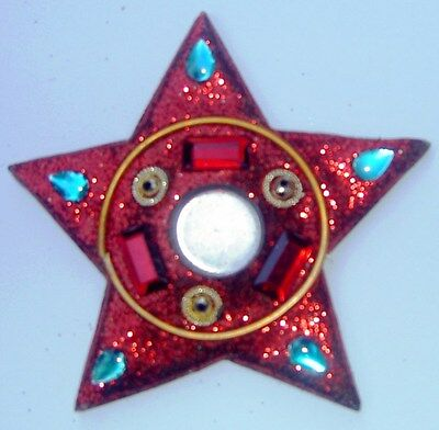 Glittery Red Star Incense Cone Holder