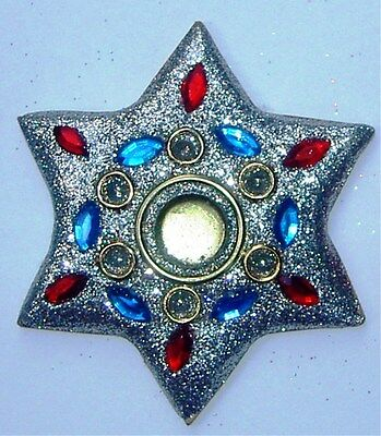 Glittery Star Incense Cone Holders Silver 75 mm
