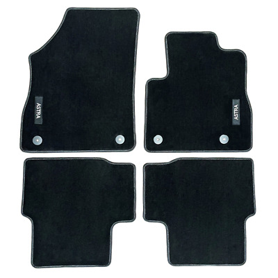 Vauxhall Astra K Velour Black Tailored Front/Rear Floor Car Mats GENUINE OE