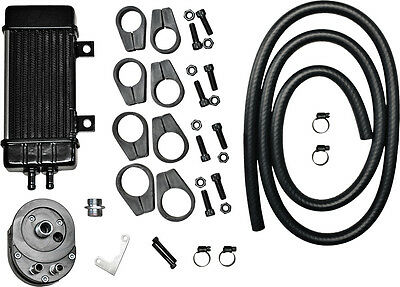 JAGG WIDELINE OIL COOLER SYSTEM (CHROME) Fits: Harley-Davidson FLHR Road King,FL